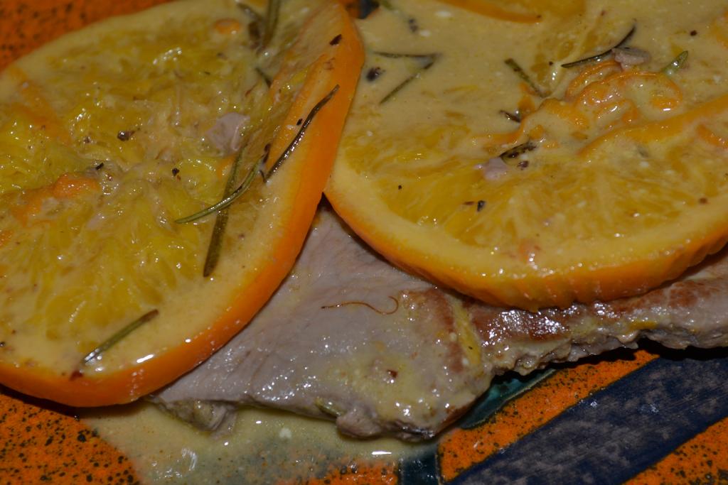Kalbsschnitzel mit Orangen