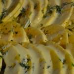 Kürbis mit frischem Thymian und Zitronenbutter