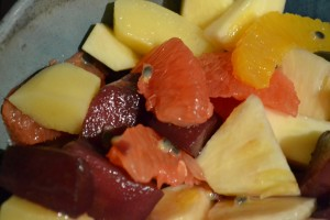 Obstsalat im Winter