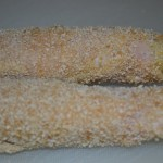 Spargel mit Kochschinken panieren
