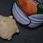Ingwer und Kokosmilch