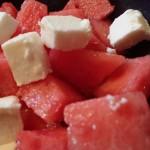 Wassermelone und Feta
