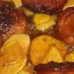 Chorizo mit Knoblauch anbraten