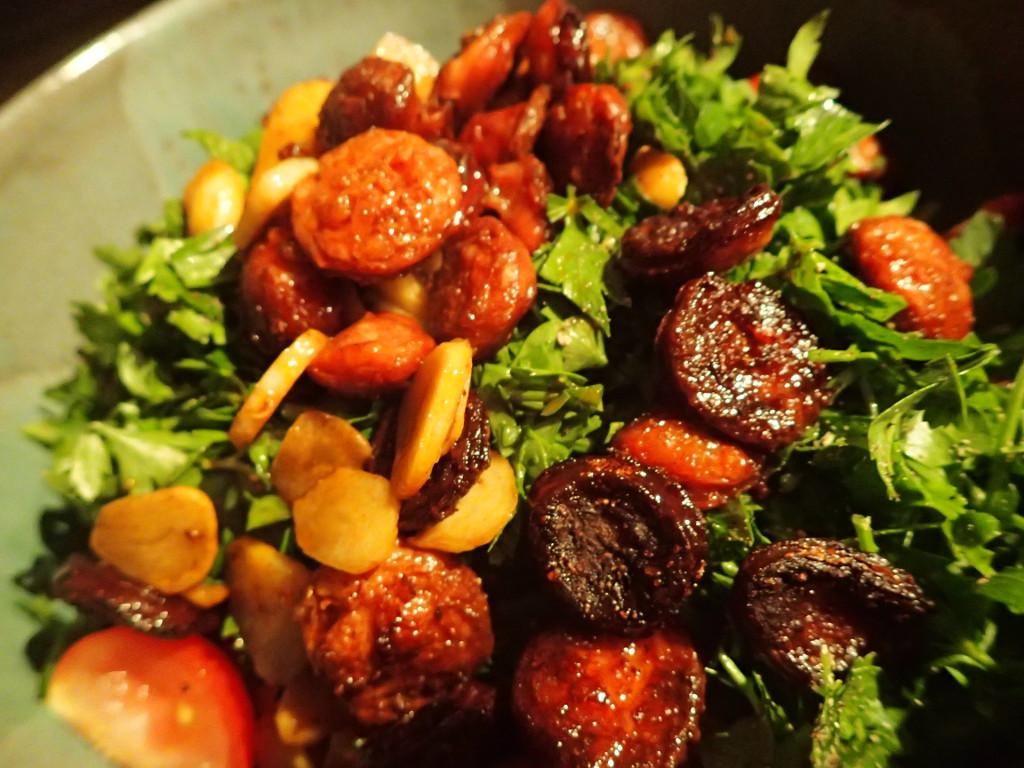 Tomatensalat mit Chorizo
