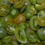 Tomaten würfelig schneiden