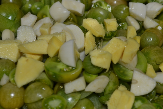 Tomaten, Ingwer, Knoblauch