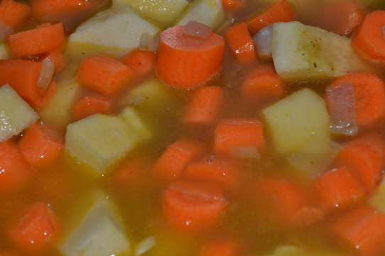 Karotten und Quitten weich kochen