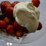 Erdbeeren mit Espressogelee