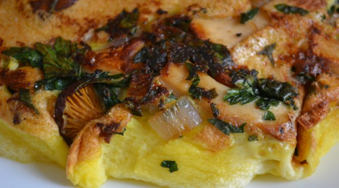 Omelette mit Pfifferlingen