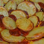 Kartoffelgratin mit Chorizo