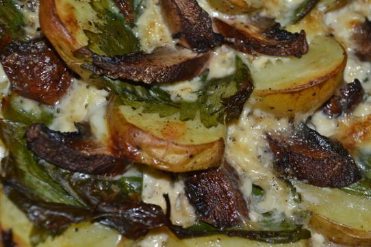 Kartoffelgratin mit Petersilie überbacken