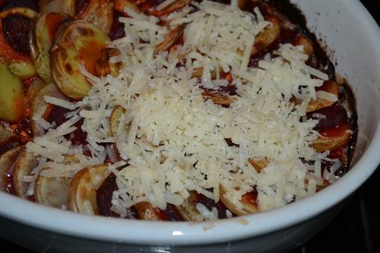 mit Parmesan überbacken