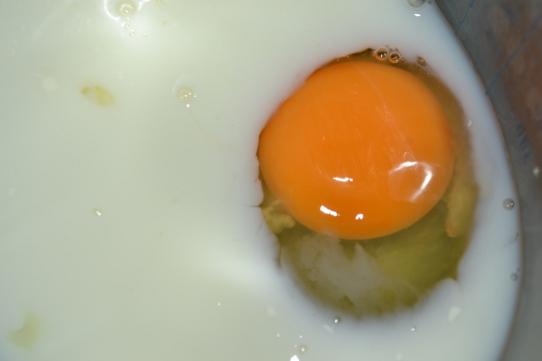 Ei und Milch