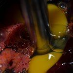 rote Bete und Eier mixen